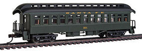 Con-Cor Open Platform Coach ATSF #221 HO Scale Model Train Passenger Car #15616