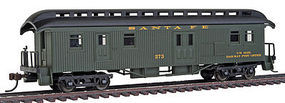 Con-Cor Open Platform Baggage ATSF #273 HO Scale Model Train Passenger Car #15706