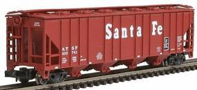 Con-Cor 52 4-Bay Covered Hopper Santa Fe N Scale Model Train Freight Car #1731