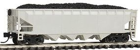 Con-Cor 75-Ton 4-Bay Hopper Undecorated N Scale Model Train Freight Car #175101