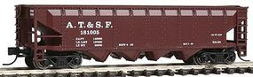 Con-Cor 75-Ton Four-Bay Hopper Atchison, Topeka & Santa Fe #1 N Scale Model Train Freight Car #175102
