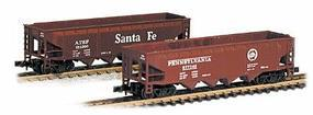 Con-Cor 75-Ton Four-Bay Hopper Atchison, Topeka & Santa Fe #2 N Scale Model Train Freight Car #175103