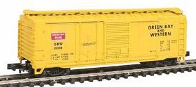 Con-Cor 40 Combination Door Box Car Green Bay & Western N Scale Model Train Freight Car #1757