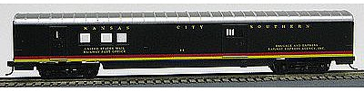 Con-Cor 72' Streamline RPO Kansas City Southern -- HO Scale Model Train Passenger Car -- #19205