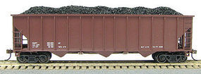 Con-Cor 100 Ton 12-Panel Hopper Data Red HO Scale Model Train Freight Car #19301