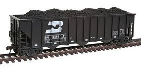 Con-Cor Bulrington Northern #2 100-Ton 12-Panel 3-Bay Hopper HO Scale Model Train Freight Car #19326