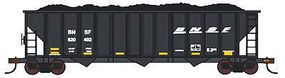 Con-Cor BNSF Railway 100-Ton 3-Bay Hopper with Load Single Car HO Scale Model Train Freight Car #19333
