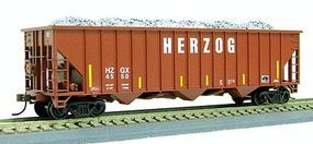 Con-Cor Herzog 100-Ton 15-Panel 3-Bay Hopper HO Scale Model Train Freight Car #19368