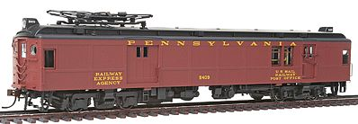 Con-Cor Electric Non-Powered mP54 MU Baggage-Mail Penn Railroad HO Scale Model Passenger Car #194577