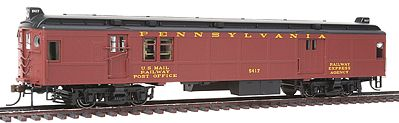 Con-Cor Electric Non-Powered mP54 MU Baggage-Mail Penn Railroad -- HO Scale Model Passenger Car -- #194630