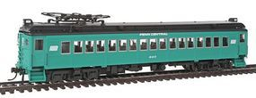 Con-Cor MU Coach Powered Penn Central Alum B HO Scale Model Train Passenger Car #194682