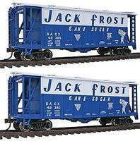 Con-Cor GATX Airslide Covered Hopper 2-Pack Jack Frost Sugar HO Scale Model Train Freight Car #197011