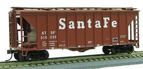 Con-Cor 40 Airslide(R) Single-Bay Covered Hopper Santa Fe HO Scale Model Train Freight Car #197069
