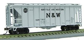 Con-Cor 40 Airslide(R) Single Bay Covered Hopper Norfolk & Western HO Scale Model Freight Car #197071