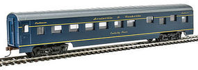 Con-Cor 72 Streamlined Sleeper Louisville & Nashville HO Scale Model Train Passenger Car #198017