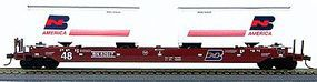 Con-Cor Gunderson Maxi III Husky Stack Burlington Northern #2 HO Scale Model Freight Car #198202
