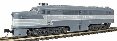 Con-Cor Diesel ALCO PA-1 A Unit Dummy with Light New York Central -- N Scale Model Train -- #202124