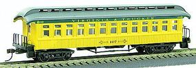 Con-Cor 1880s Wood Open-Platform Coach Virginia & Truckee HO Scale Model Train Passenger Car #222