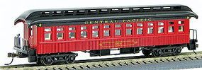 Con-Cor 1880s Wood Open-Platform Coach Central Pacific HO Scale Model Train Passenger Car #223