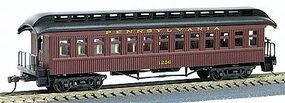 Con-Cor 1880s Wood Open-Platform Coach Pennsylvania Railroad HO Scale Model Train Passenger Car #224