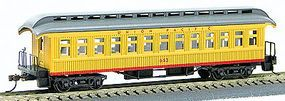 Con-Cor 1880s Wood Open-Platform Coach Union Pacific HO Scale Model Train Passenger Car #225