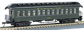 Con-Cor 1880s Wood Open-Platform Coach Santa Fe HO Scale Model Train Passenger Car #226