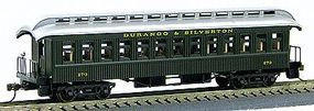 Con-Cor 1880s Wood Open-Platform Coach Durango & Silverton HO Scale Model Train Passenger Car #229