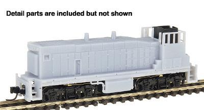 Con-Cor EMD MP15 Standard DC Undecorated -- N Scale Model Train Diesel Locomotive -- #2300