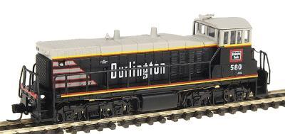 Con-Cor Diesel EMD MP15 Standard DC CB&Q Burlington Route #580 -- N Scale Model Train -- #2310