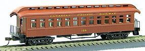 Con-Cor 1880s Wood Open-Platform Coach Canadian Pacific HO Scale Model Train Passenger Car #231