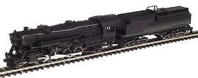 Con-Cor Steam 2-8-2 Heavy Mikado with Vanderbilt Tender Powered Undecorated N Scale Model Train #28201