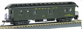 Con-Cor Open Platform Baggage ATSF HO Scale Model Train Passenger Car #326