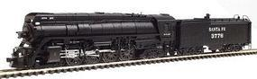 Con-Cor Steam 4-8-4 with Coal Bunker Tender Santa Fe #3776 N Scale Model Train #3888