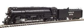 Con-Cor Steam 4-8-4 with Coal Bunker Tender Santa Fe #3778 N Scale Model Train #3889