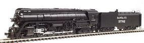 Con-Cor Steam 4-8-4 with Coal Bunker Tender Santa Fe #3782 N Scale Model Train #3890