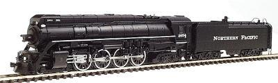 Con-Cor Steam 4-8-4 with Coal Bunker Tender Northern Pacific #2654 -- N Scale Model Train -- #3891