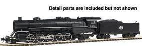 Con-Cor Steam USRA Heavy 2-10-2 Standard DC Bessemer & Lake Erie #2 N Scale Model Train #3914