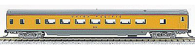 Con-Cor 85' Smooth-Side Coach Union Pacific -- N Scale Model Train Passenger Car -- #40025