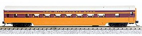 Con-Cor 85 Smooth-Side Coach Milwaukee Road N Scale Model Train Passenger Car #40036