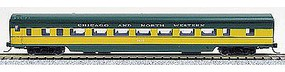 Con-Cor 85 Smooth-Side Coach Chicago & North West N Scale Model Train Passenger Car #40038