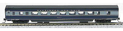 Con-Cor 85' Smooth-Side Coach Baltimore & Ohio -- N Scale Model Train Passenger Car -- #40040