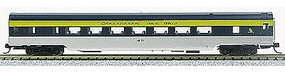 Con-Cor 85' Smooth-Side Coach Chesapeake & Ohio N Scale Model Train Passenger Car #40041