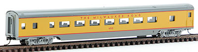Con-Cor 85' SS Passenger Coach Car Milwaukee Road -- N Scale Model Train Passenger Car -- #40042