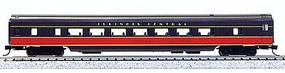 Con-Cor 85 Smooth-Side Coach Illinois Central N Scale Model Train Passenger Car #40049