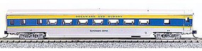 Con-Cor 85' Smooth-Side Coach Delaware & Hudson N Scale Model Train Passenger Car #40057