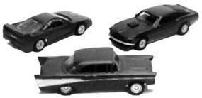 Con-Cor Automobile Ferrari F40 Mini Exact 3 Pack HO Scale Model Railroad Vehicle #4005