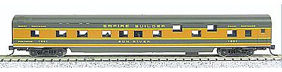 Con-Cor 85 Smooth-Side Sleeper Great Northern Empire N Scale Model Train Passenger Car #40074