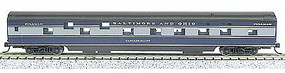 Con-Cor 85 Smooth-Side Sleeper Baltimore & Ohio N Scale Model Train Passenger Car #40090
