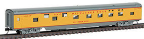 Con-Cor 85 Smooth Side Pullman Sleeper Milwaukee Road yellow N Scale Model Train Passenger Car #40092