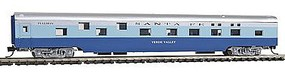 Con-Cor 85 Smooth-Side Sleeper Santa Fe N Scale Model Train Passenger Car #40102